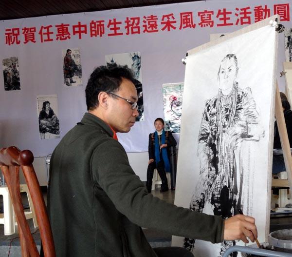 任惠中2014年山东招远写生现场及作品欣赏