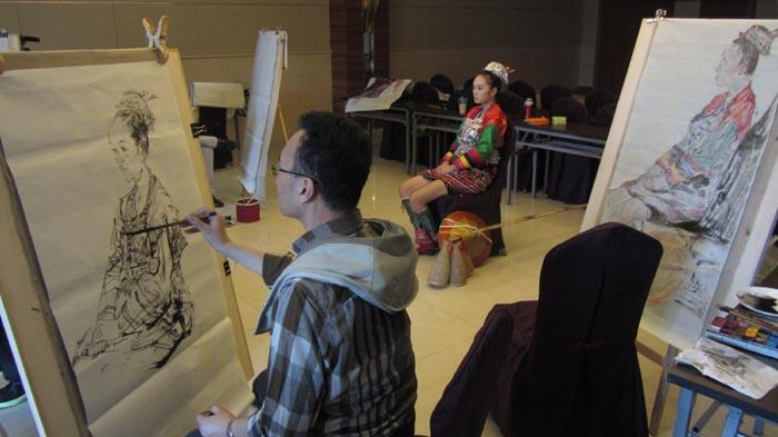 任惠中作品2013年云南新平嘎洒镇写生