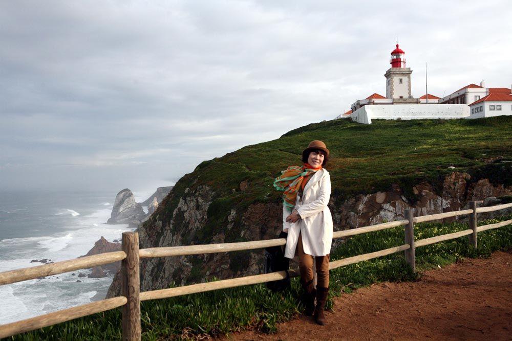 崔虹照片2013在葡萄牙罗卡角