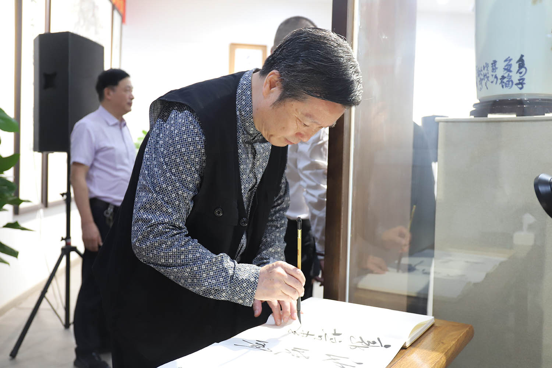 马硕山照片马硕山瓷画艺术馆开馆仪式