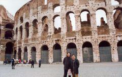 石峰照片与刘大为在罗马