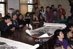 刘大为工作室活动照片2013年中央美院水墨写生作品学术讲座