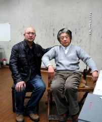 李东星活动照片2013年11月29日和赵建成老师。