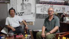 李东星活动照片2014年8月拜访中国国家画院院长杨晓阳。