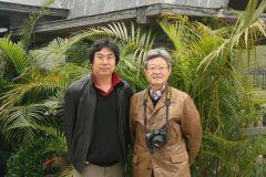 李晓军活动照片广西采风与姜宝林导师合影