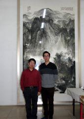 周扬波照片与著名书法家学者黄君合影