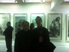 周扬波照片与卢禹舜老师合影