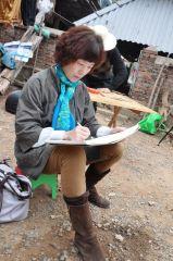 刘大为工作室作品在猛伦曼打鸠寨写生