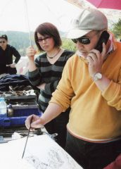 范扬工作室活动照片陪同导师范扬来张家界写生