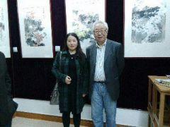 范扬工作室活动照片2013江苏海门首届田园山水画展与著名美术评论家孙克合影