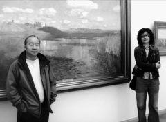 ARTIST_NAME作品范扬潘金玲在列维坦的作品前