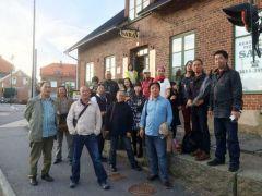 马硕山活动照片瑞典作品展