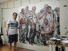 ARTIST_NAME作品郭山泽在画室