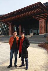 周扬波照片与周逢俊先生在北京雁西湖国际会议中心参加活动