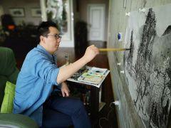 周扬波照片北京工作室创作中
