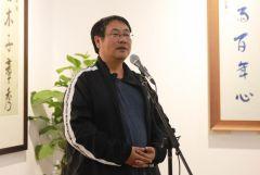 马硕山照片中国人民大学画院副院长王乘讲话