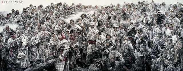 苗再新作品《雪域子民》