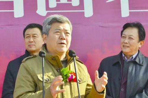 中国美协理事、空军文艺创作室副主任、著名画家王界山致辞.jpg