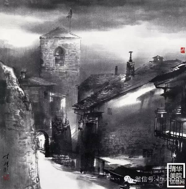 《圣.莎费汉小镇之晨》70cmx70cm(荣宝斋藏).jpg