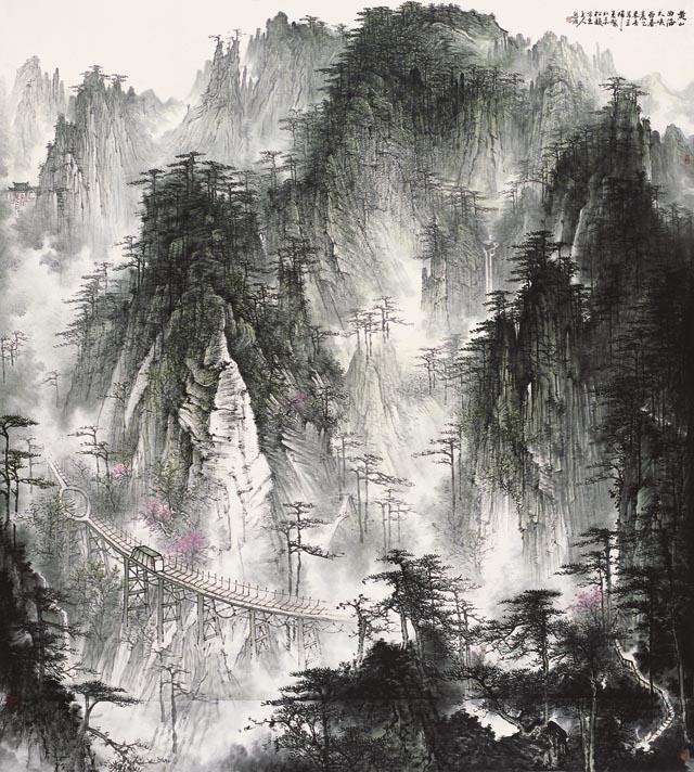 黄山西海大峡谷2015年200x220cm.jpg