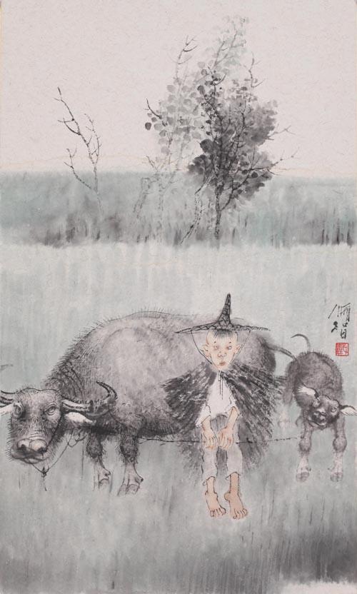 戴顺智 牧童 39×55 2014.JPG