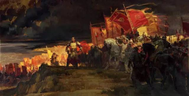 《满江红》 何红舟 黄发祥 尹 骅(浙江) 270 cm × 530.5 cm   油画.jpg