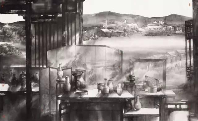 中华瓷韵  陈 辉 汪劲松 陆学东(北京) 271.5 cm × 443.5 cm   中国画.jpg