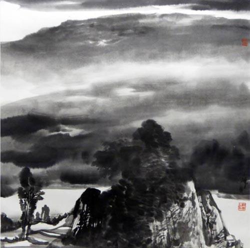 云满两江岸   69cmx69cm   2016年.jpg