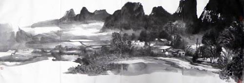 广西六甲镇 35cmx136cm 2016年.jpg