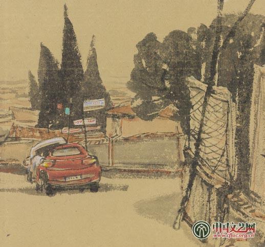《欧洲风景写生》系列之七 40x43cm.jpg