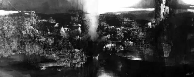 山水景观系列-3  2007  水墨纸本   400x160cm.jpg