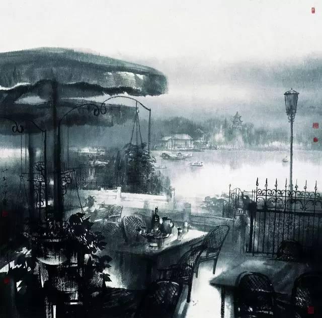 《什刹海印象》125cmx125(北京画院藏).jpg