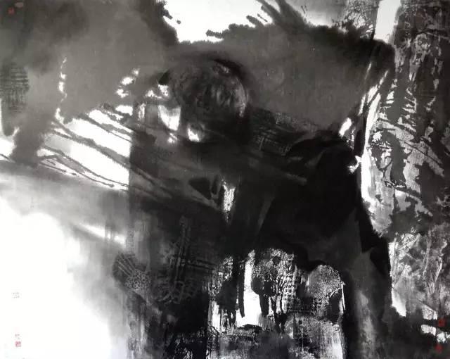 《石破天惊》200cmx160cm(中日画家联展).jpg