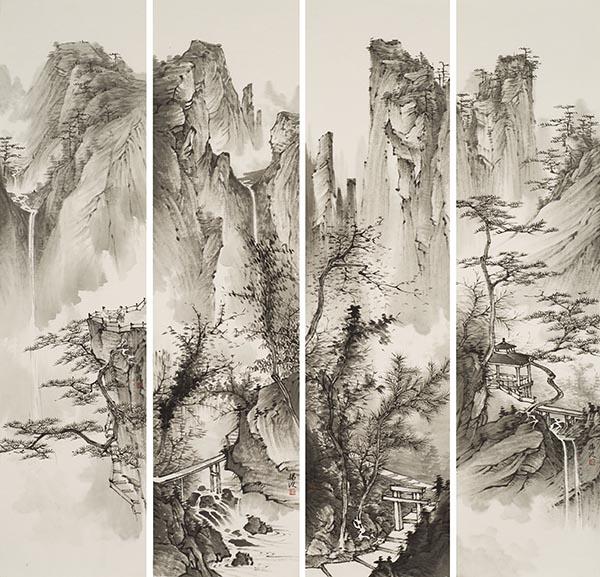 水墨山水四条屏2017年 68x136cm.jpg