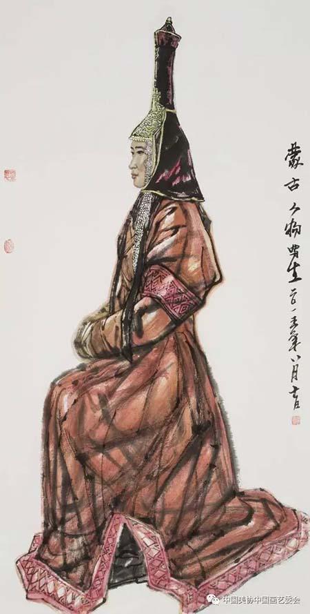 吴团良《蒙古人物写生》.jpg