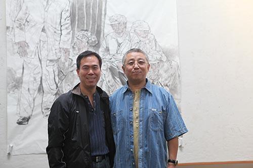 7,2010年9月,郭山泽在陈嵘老师画室。.JPG