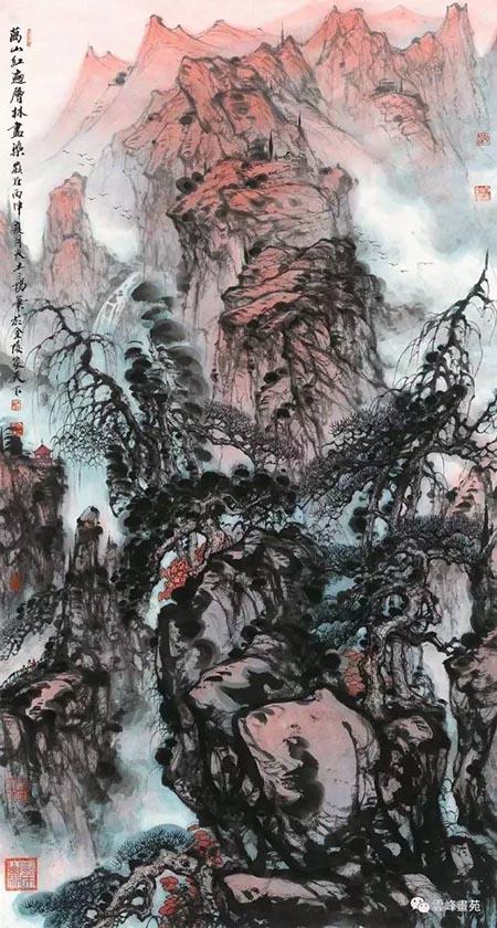 大土三陽  180x97cm  漫山紅遍層林盡染.jpg