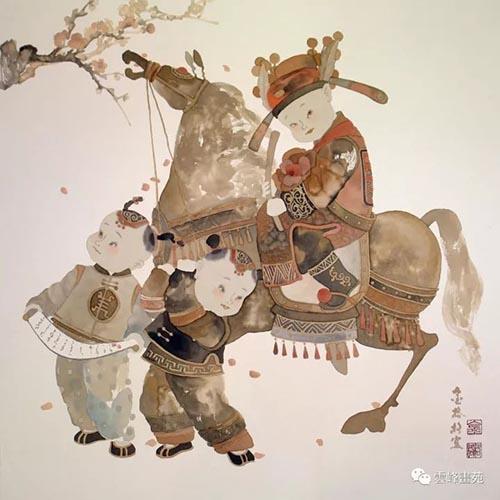 金格格    (68.5x68.5)cm   金童系列之一.jpg