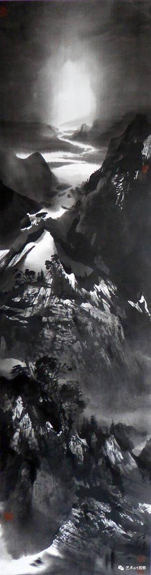 《晓月山色几时有》 46cmx185cm.jpg