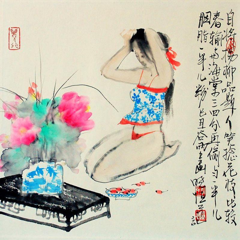 李晓恒人物画作品欣赏【共10幅作品】 - 纽约文摘 - 纽约文摘
