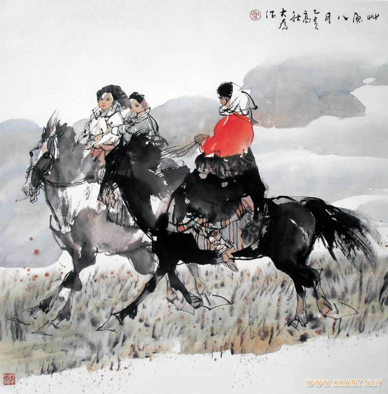 刘大为作品草原八月