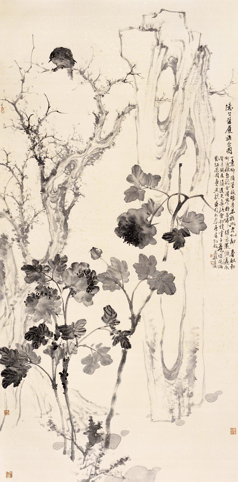 周逢俊作品忆旧屋清秋图(三)