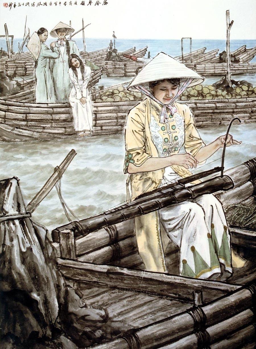 苗再新作品海风琴韵―京族