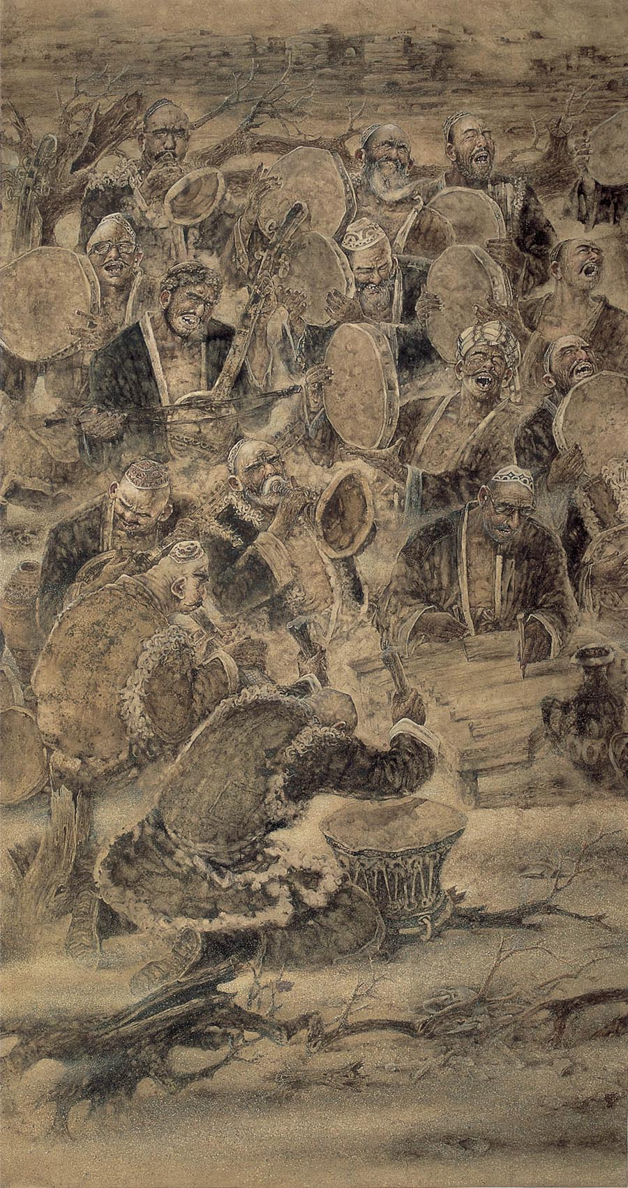刘选让作品塔克拉玛干之魂局部之四