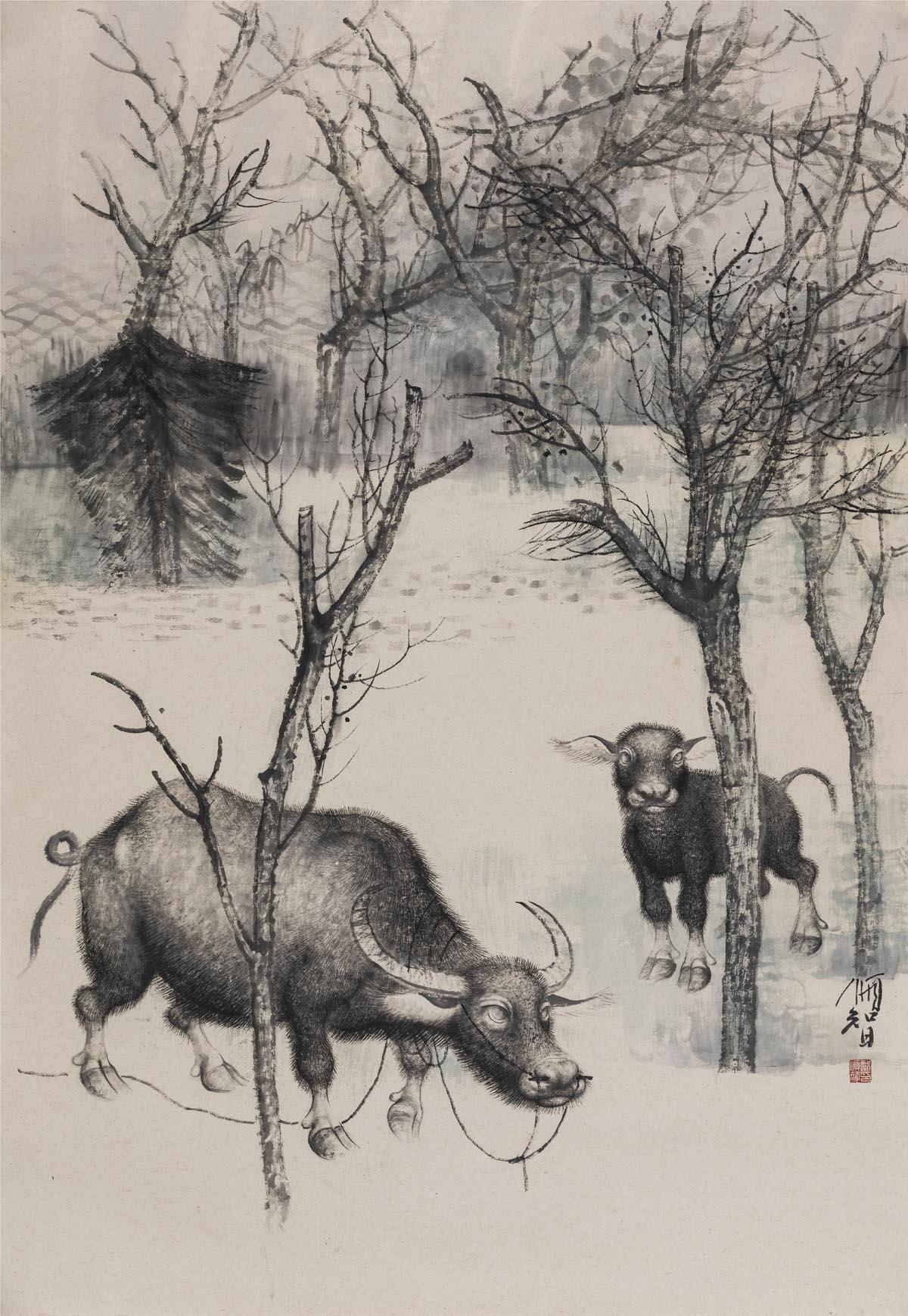 戴顺智作品牛