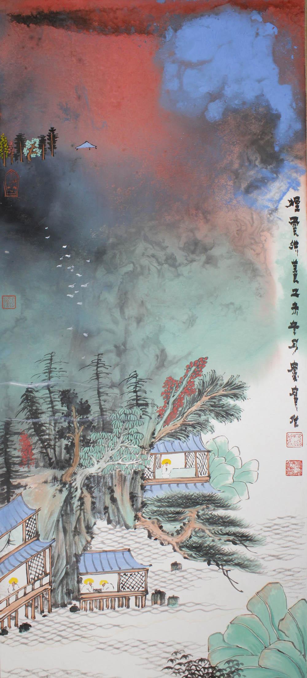 刘庆广作品泼彩山水