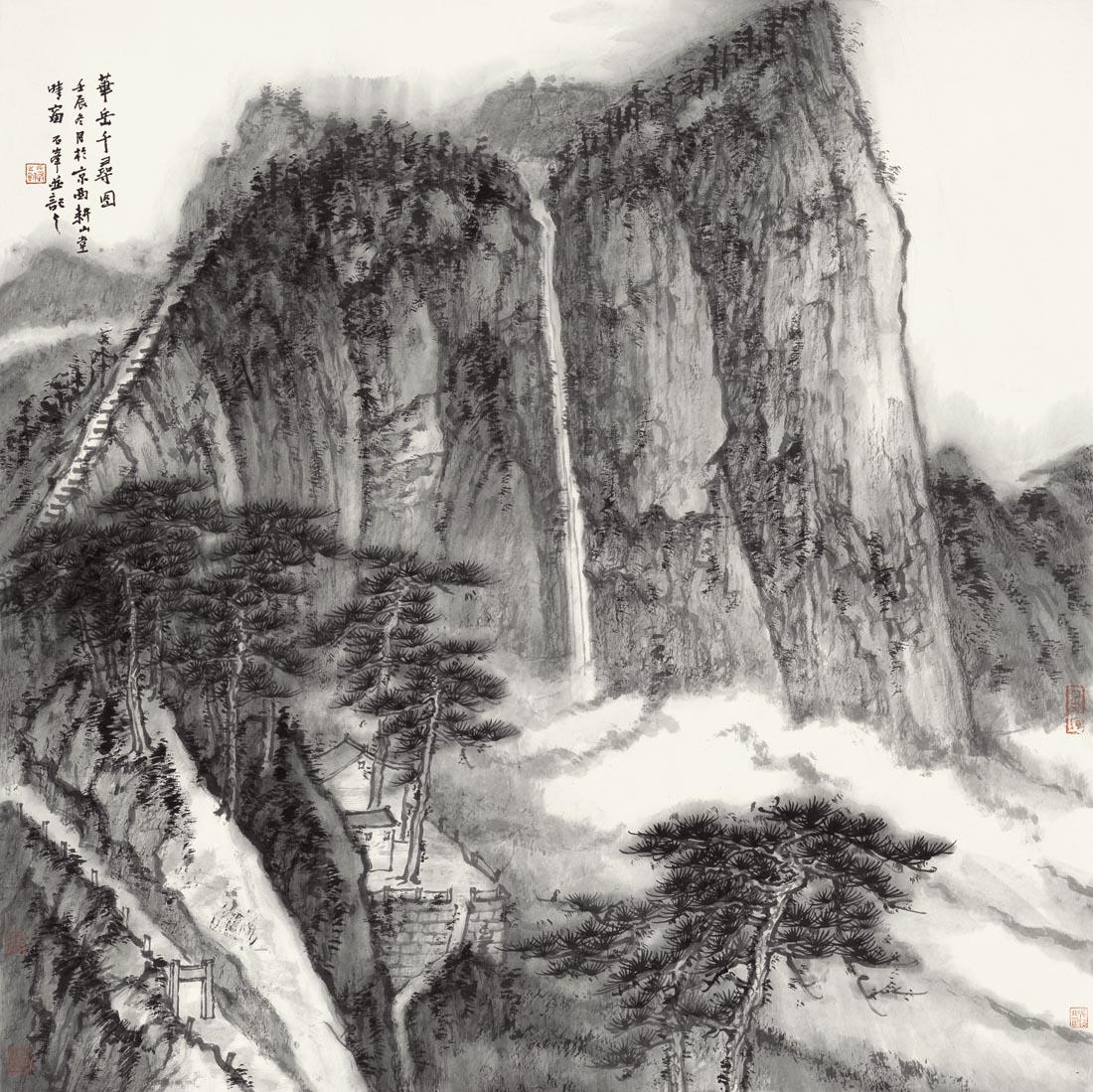 石峰作品华岳千寻图