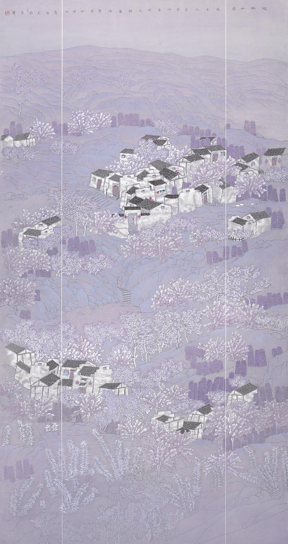 高海龙作品从林山居图