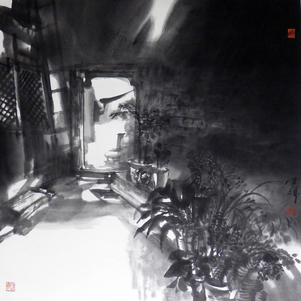 优乐娱乐官网作品老院子的光线(中国美术馆藏)