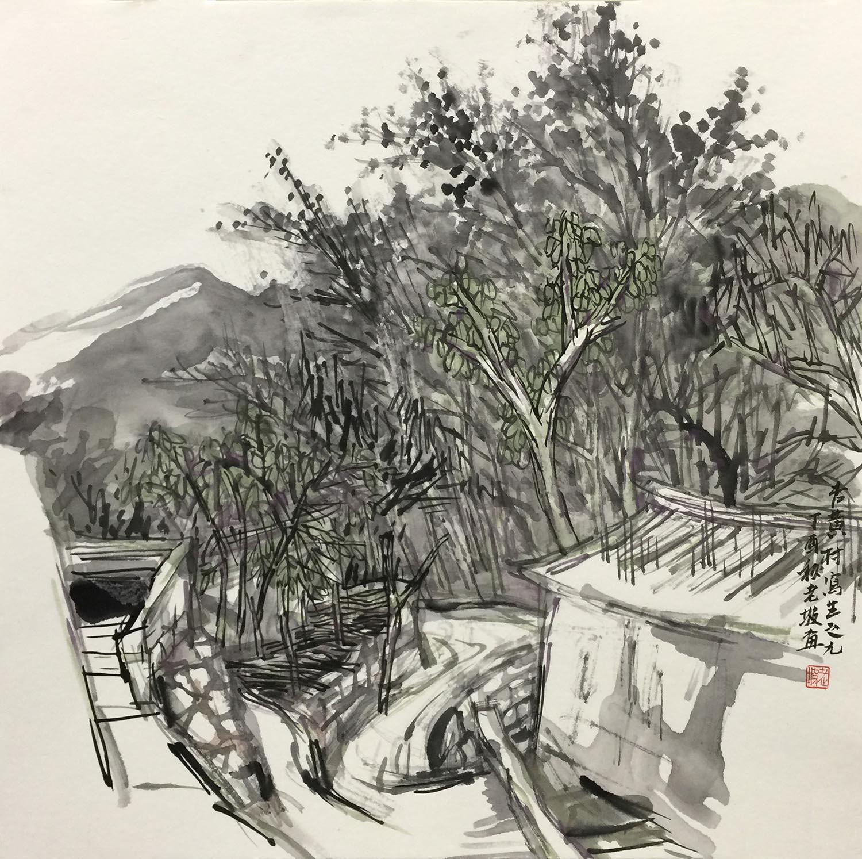 韩敬伟作品杏黄村写生04